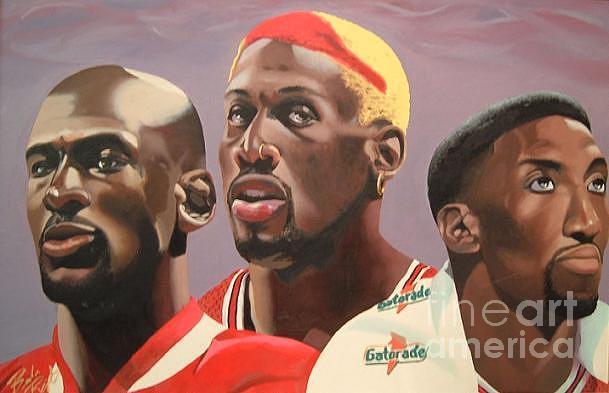 Bulls Painting - Da Bulls by Brandon Ramquist