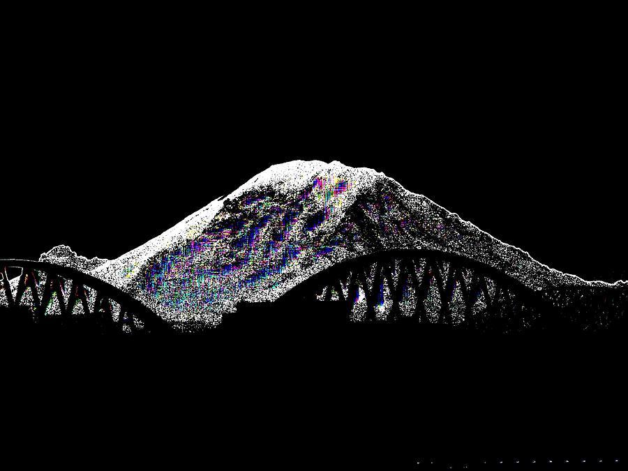 Mount Rainier Digital Art - Da Mountain And Stadia by Tim Allen