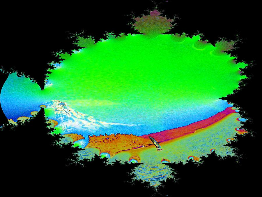 Washington Digital Art - Da Mountain Sail In Fractal by Tim Allen