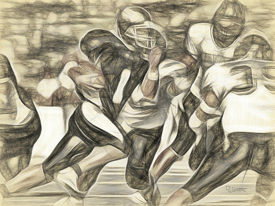 Da Vinci Football Sketch Digital Art