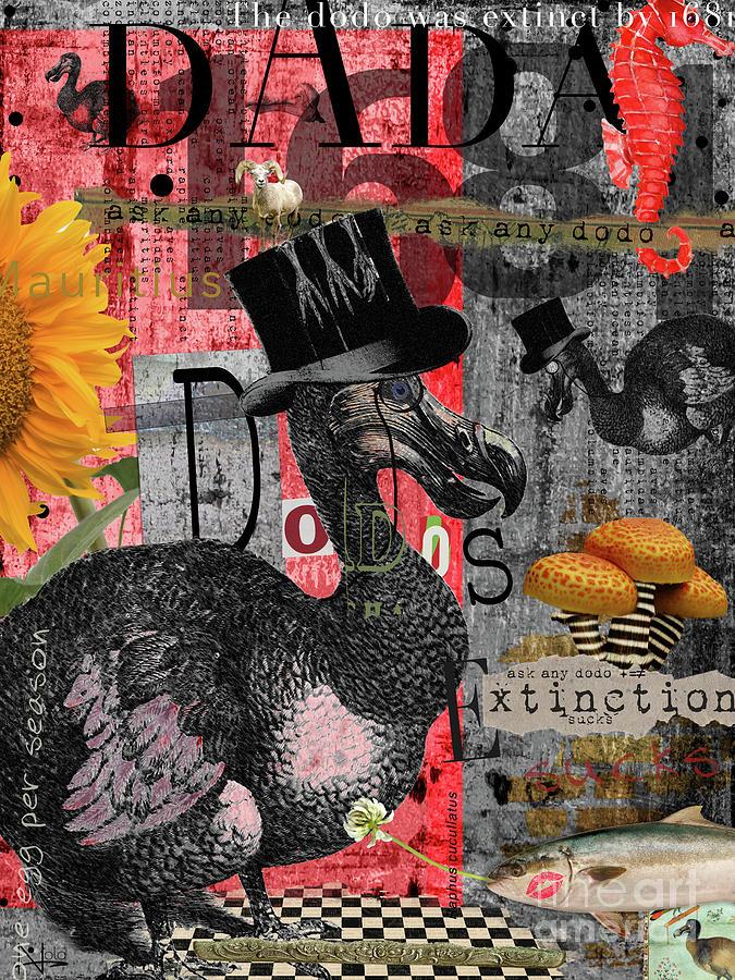 Dodo Bird Digital Art - Dada Dodos by Nola Lee Kelsey