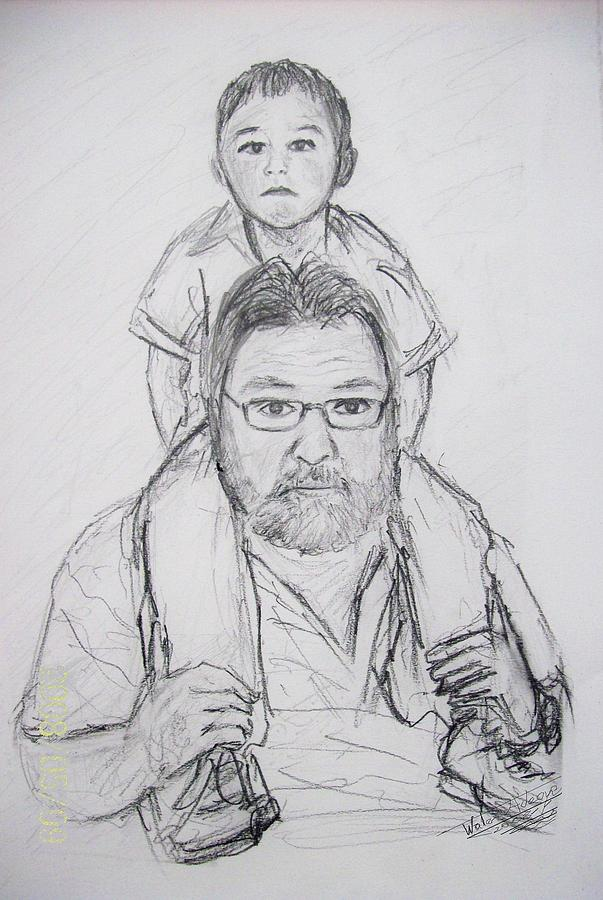 Daddy's Boy Drawing - Daddys Boy by Wale Adeoye