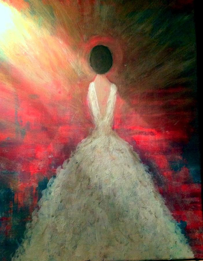 Wedding Gown Painting - Daddys Little Girl by Anna Lee De Llano