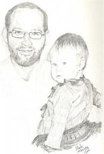 Daddy's Little Girl Drawing - Daddys Little Girl by Mark Keisling