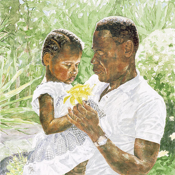 Father Painting - Daddys Little Girl by Philip  Smallwood