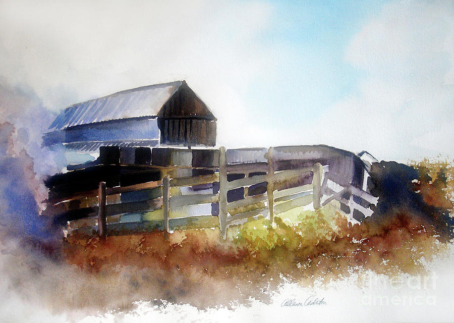 Dads Farm House Painting