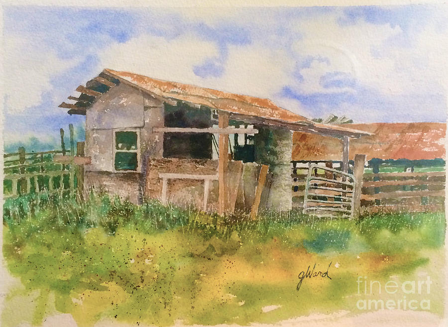 Barn Painting - Dads Saddle shed by Glen Ward