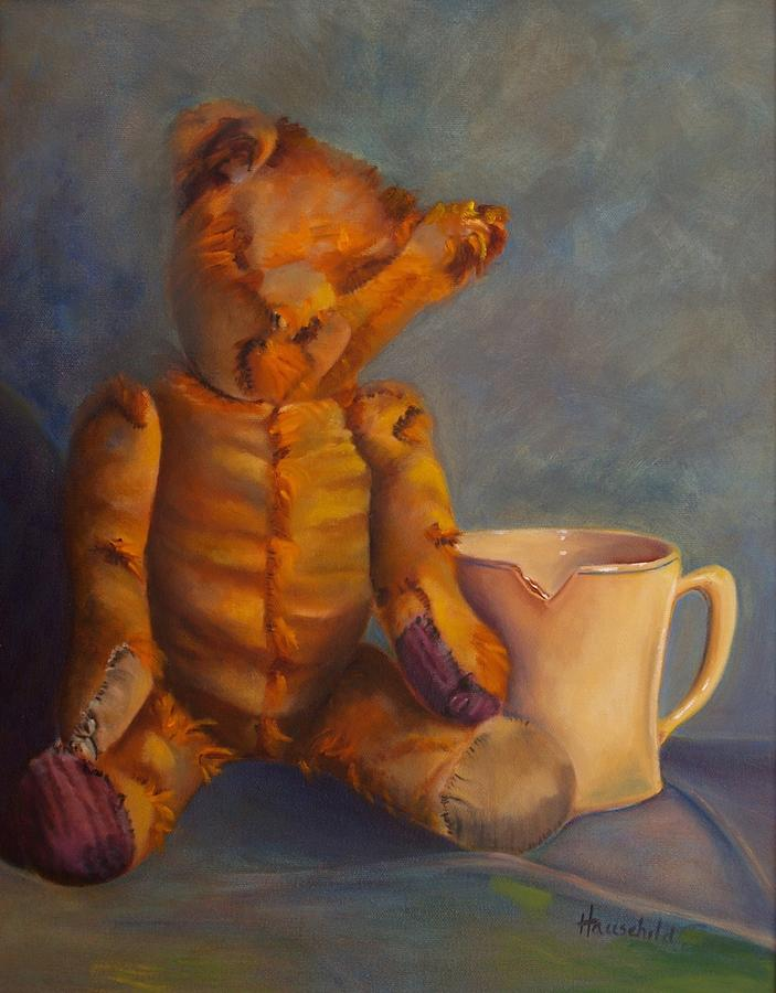 Teddy Bear Painting - Dads Teddy by Rebecca Hauschild