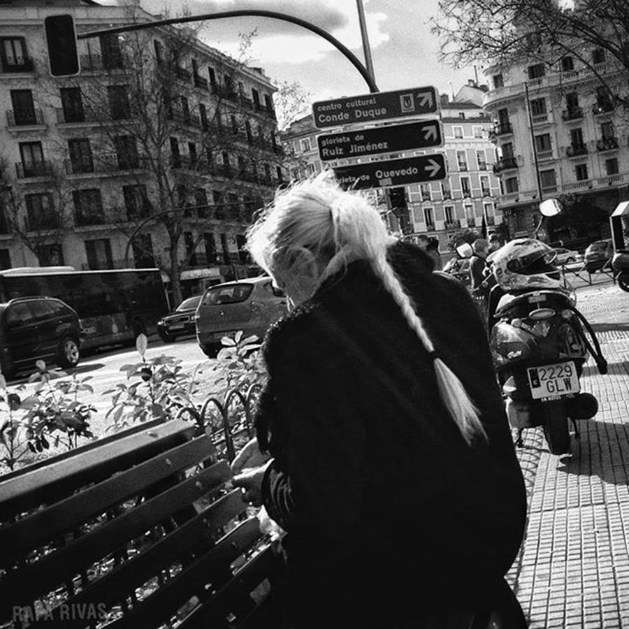 Blackandwhite Photograph - Daenerys Madridien  #woman #blonde by Rafa Rivas
