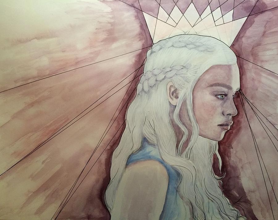 Daenerys Painting - Daenerys Targaryen by Anja Bas