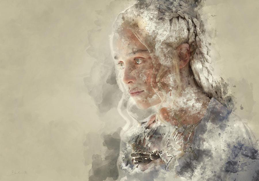 Daenerys Targaryen, Khaleesi, Game Of Thrones Painting