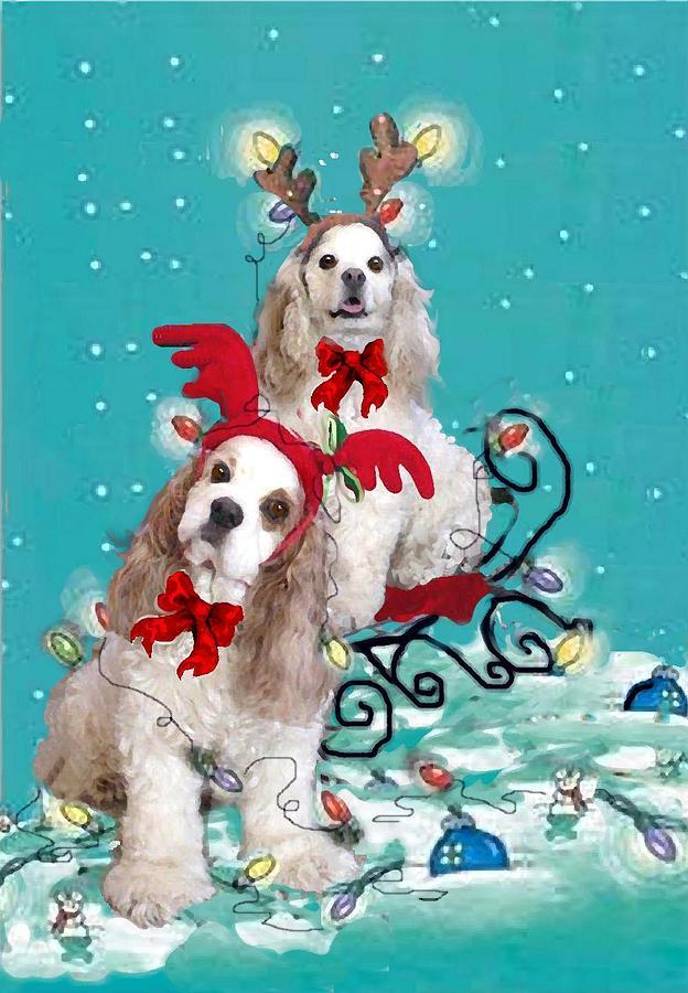 Christmas Painting - Daffney And Annie by Sue Alandar