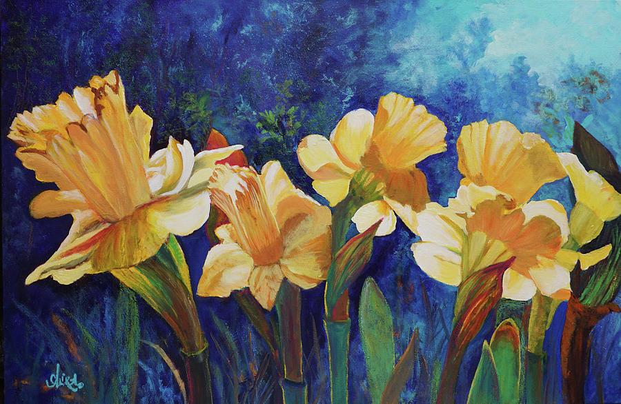 Flowers Painting - Daffodils by Alika Kumar