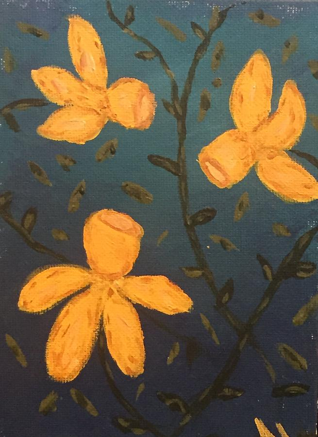 Daffodils Painting by Apryl Le