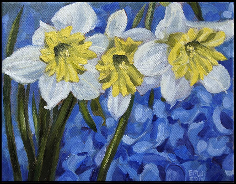 Flowers Painting - Daffodils by Edward Williams