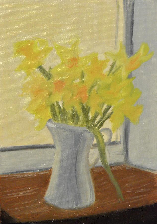 Daffodils Painting - Daffodils In Jug by Marina Garrison