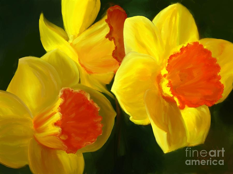 Daffodils In The Sun by Roxy Riou