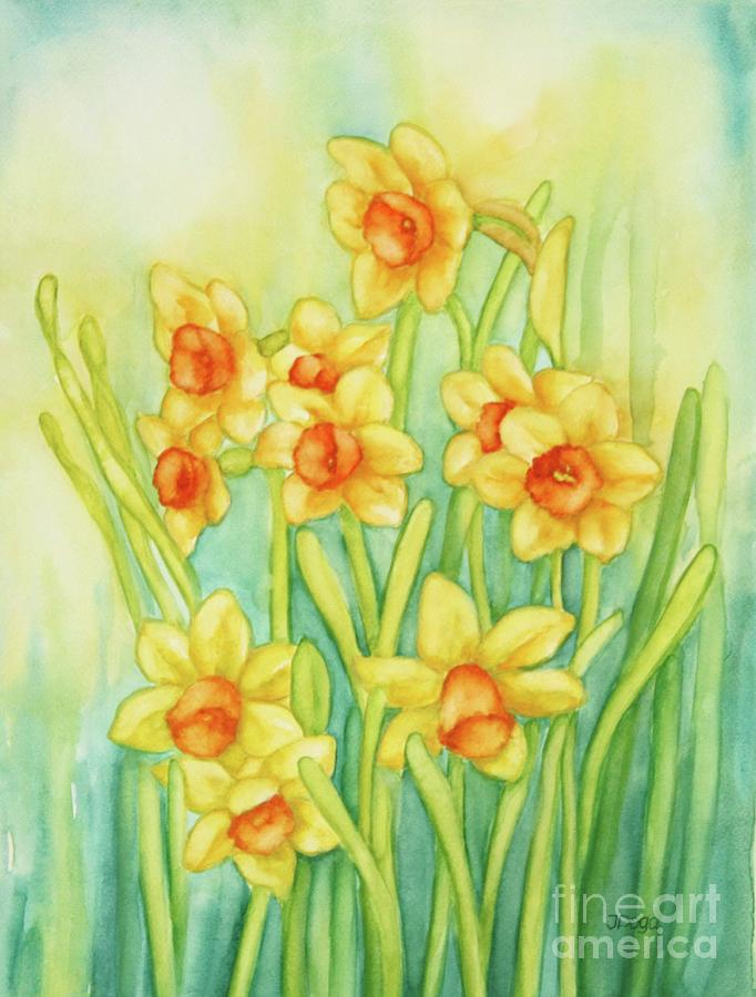 Daffodils in yellow by Inese Poga