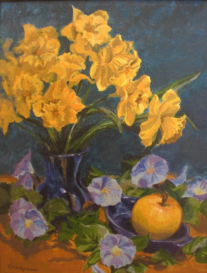 Still Life Painting - Daffodils by Karen Ilari