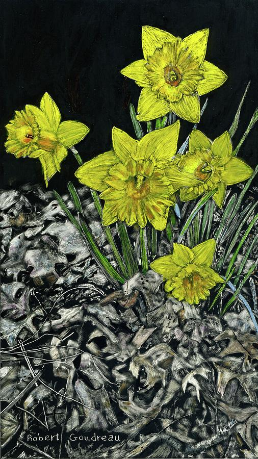 Daffodils Painting - Daffodils by Robert Goudreau