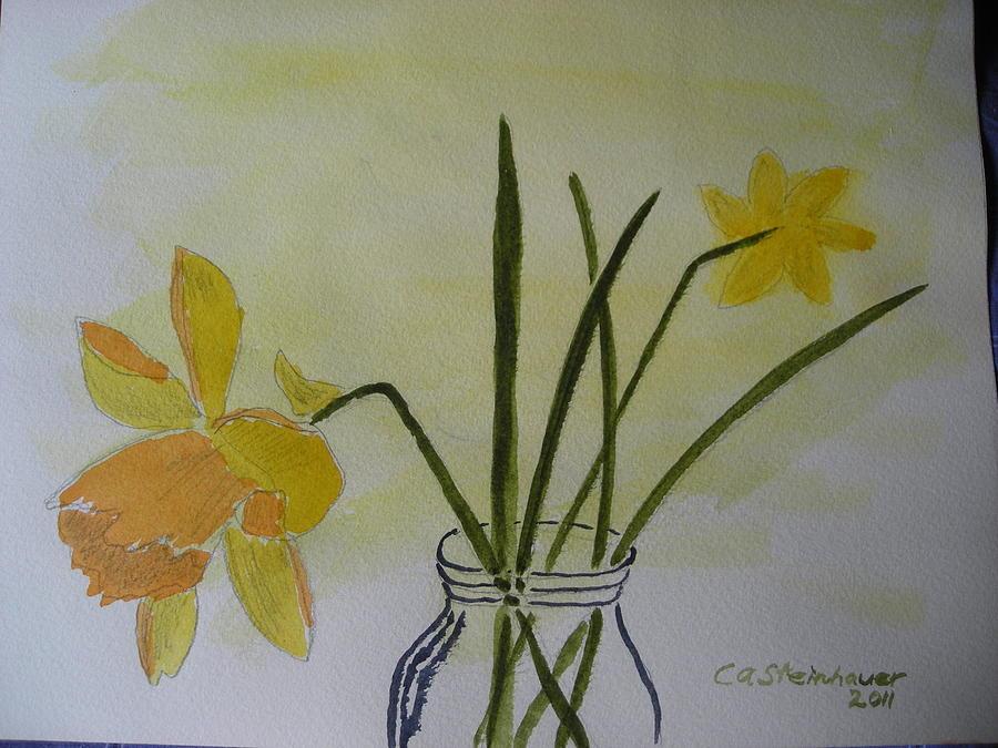 Daffys Painting by Carol Steinhauer