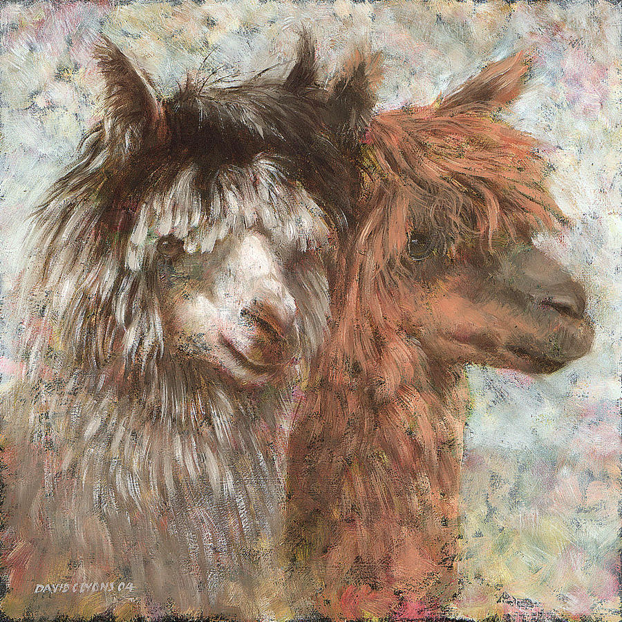 Alpacas Painting - Daft As A Brush by David Lyons