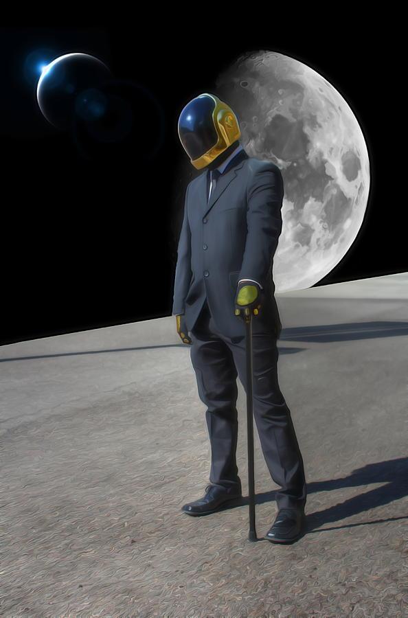 Daft Punk - Somewhere In Space Digital Art
