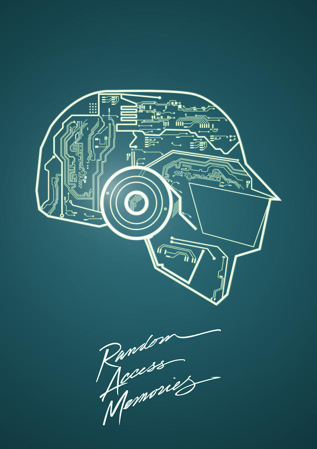 Daft Punk Digital Art - Daft punk Thomas Poster random access memories digital illustration print by IamLoudness Studio