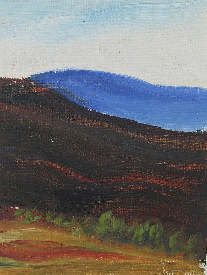 Landscape Painting - dagrar over salenfjallen- Shifting daylight over mountain ridges, 2 of 12_0035 50x40 cm by Marica Ohlsson