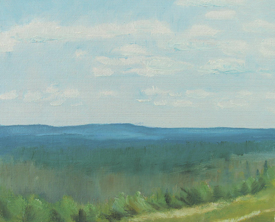 Landscape Painting - dagrar over salenfjallen- Shifting daylight over mountain ridges, 4 of 12_0029 50x60 cm by Marica Ohlsson