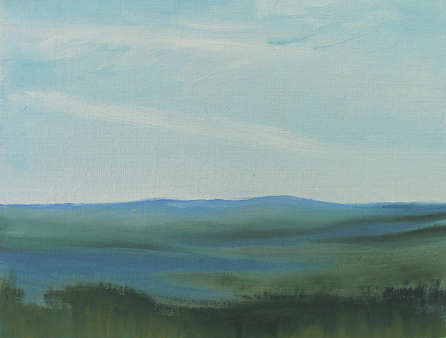 Landscape Painting - dagrar over salenfjallen- Shifting daylight over mountain ridges, 6 of 12_0027 60x40 cm by Marica Ohlsson