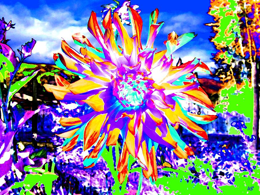 Dahlia Digital Art - Dahlia Dazzle by Will Borden