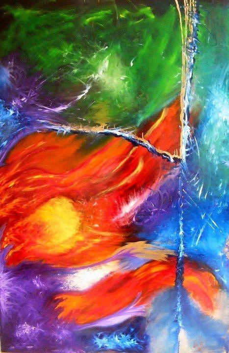 Dahlia's painting  by Kim  Rahal