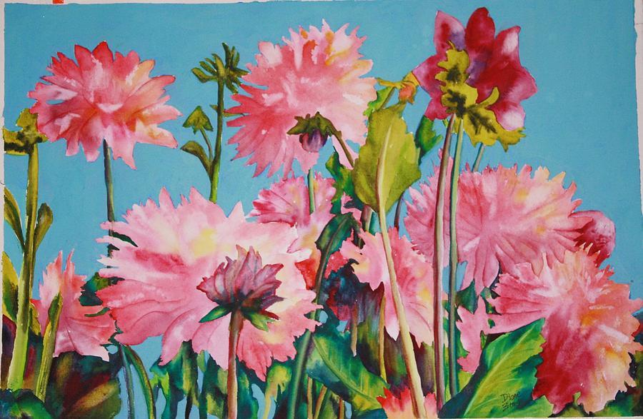 Dahlias Victoria by Diane Ziemski