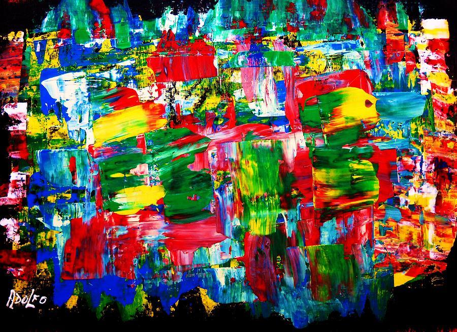 Abstract Painting - .....dah...trip........wow... by Adolfo hector Penas alvarado