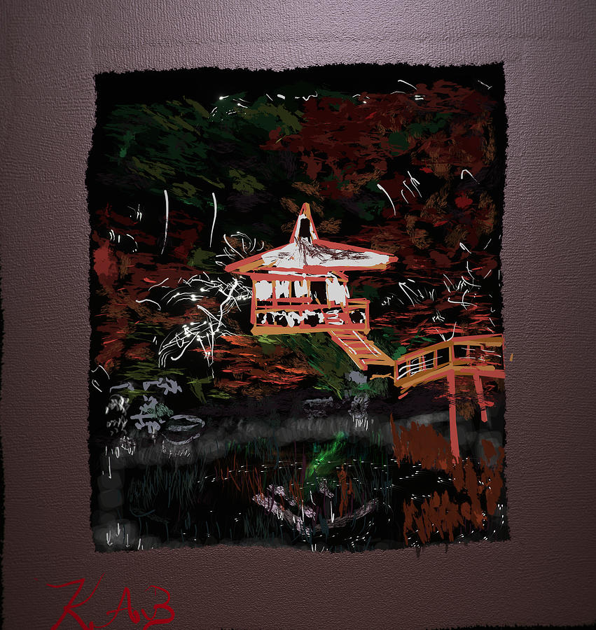 Temple Digital Art - Daigo-Ji Temple by Kab
