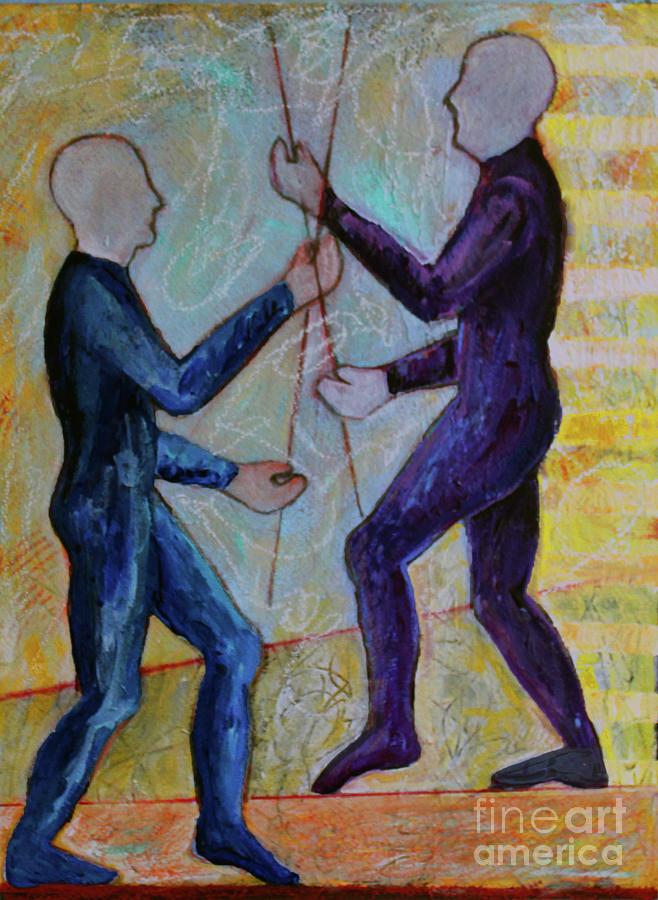Abstract Painting - Daily Balancing by Priti Lathia