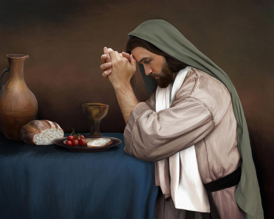 Jesus Painting - Daily Bread by Brent Borup