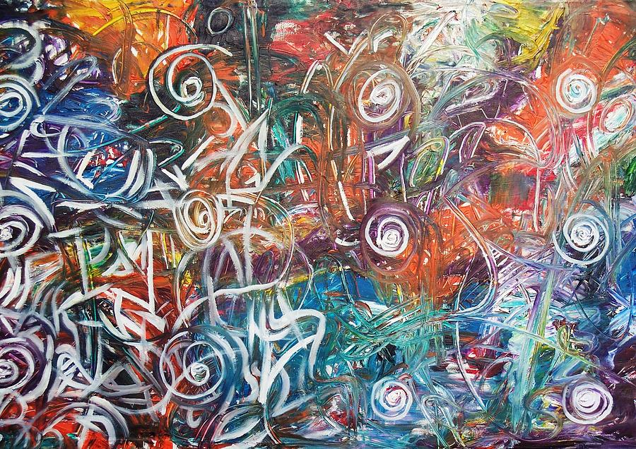 Abstract Painting - Daily Thought by Alfredo Dane Llana