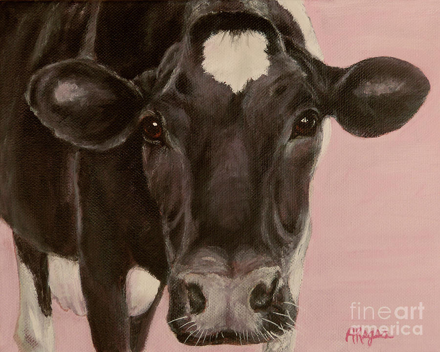 Dairy Cow Princess in Pink by Amy Reges