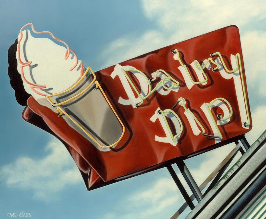 Neon Painting - Dairy Dip by Van Cordle