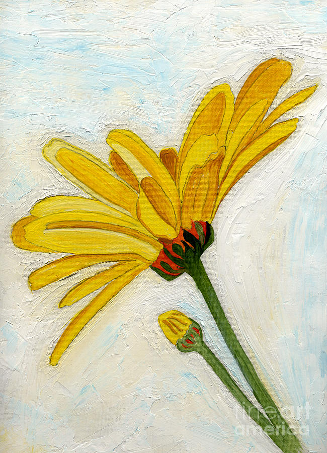 Yellow Daises Painting - Daises From The Past by Anne Gitto