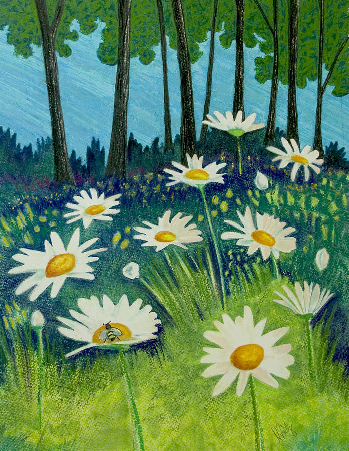 Daisies By the Lake by Michele Fritz
