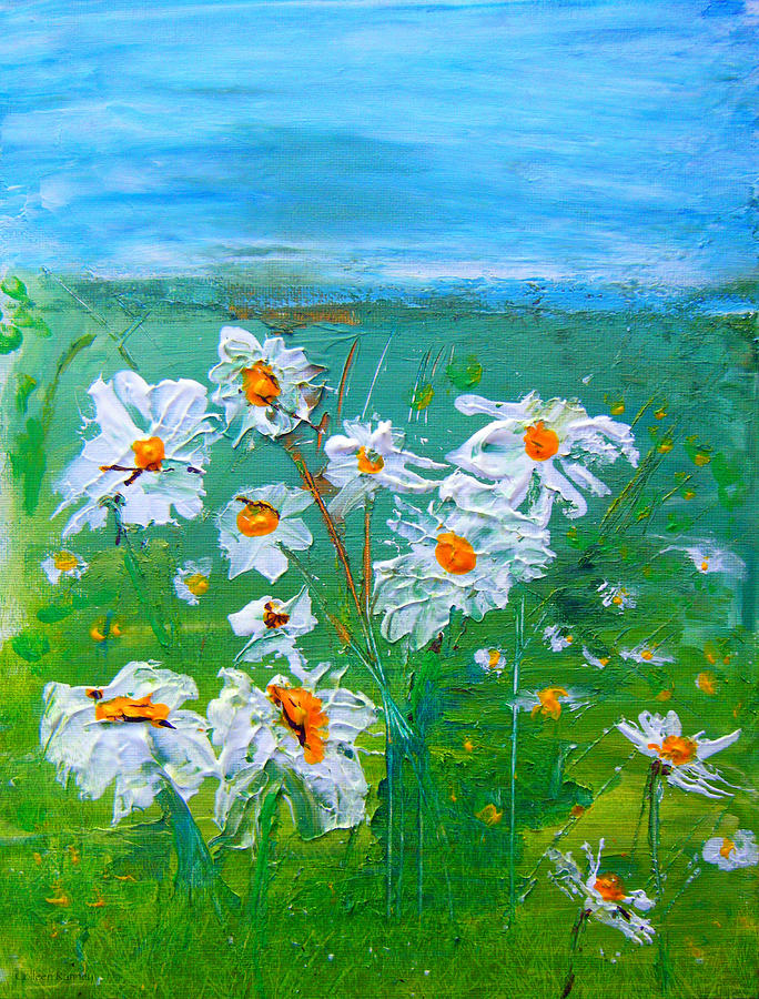 Daisies Painting - Daisies by Colleen Ranney