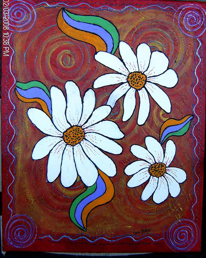 Daisies Gone Wild Painting by Tami Booher