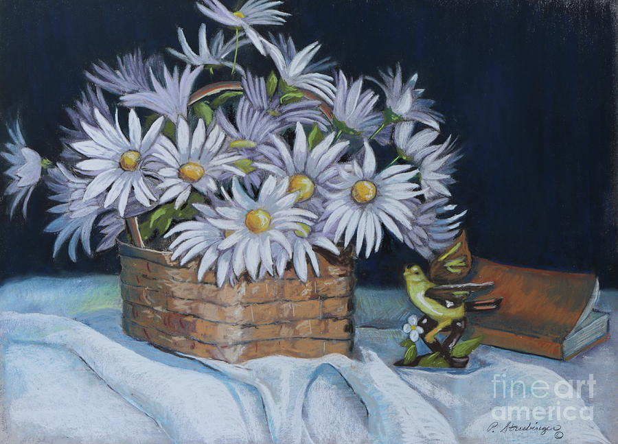 Daisies Painting - Daisies In Still Life by Patty Strubinger