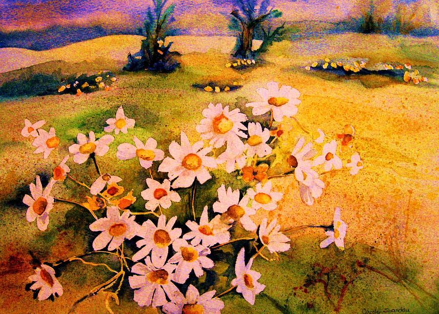Daisies Painting - Daisies In The Sun by Carole Spandau