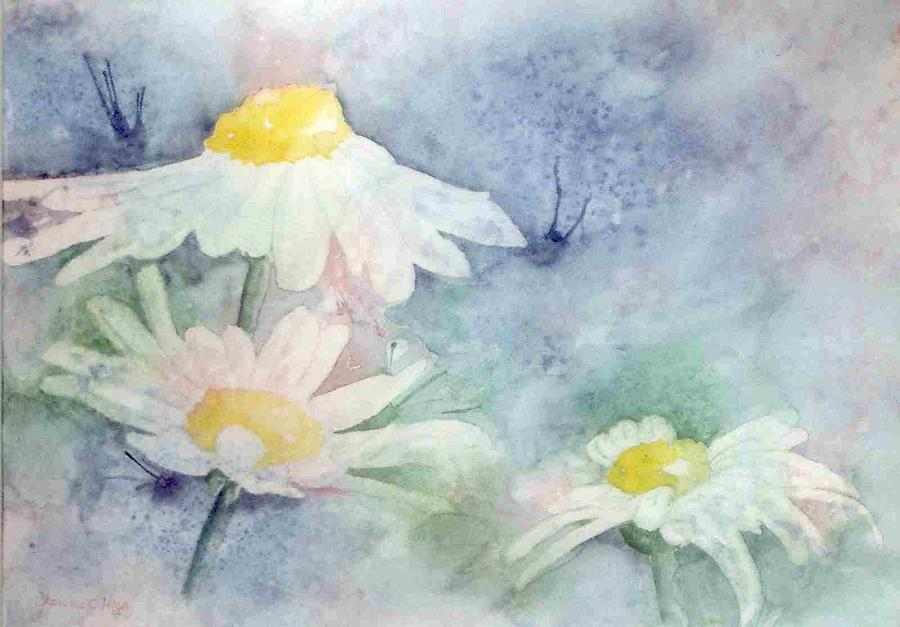 Daisy Painting - Daisies by Jeanne Hess