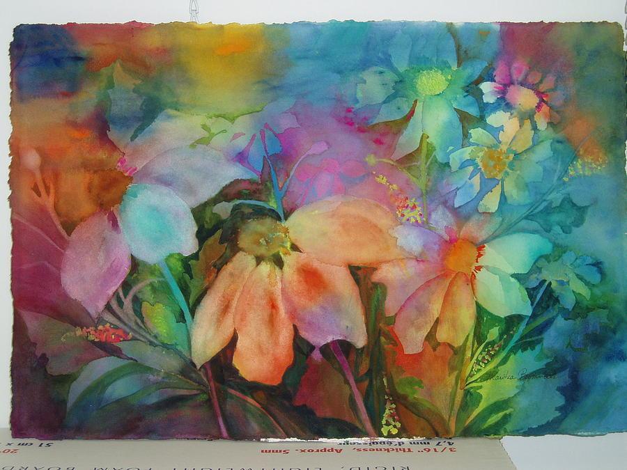Flowers Painting - Daisies by Maritza Bermudez