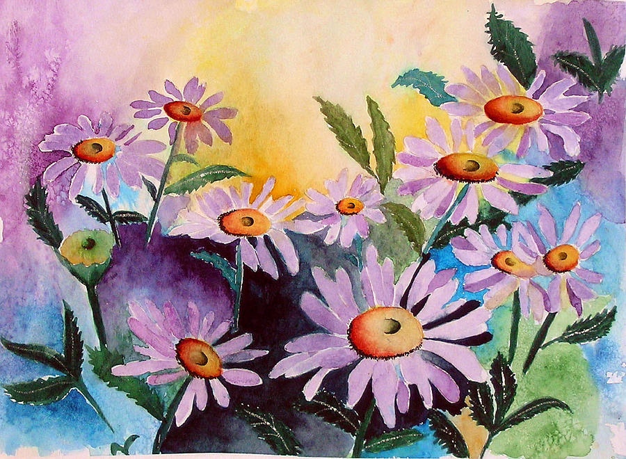 Daisies Painting - Daisies by Mary Gaines